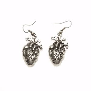 Anatomically Correct Heart Medical Doctor Earrings